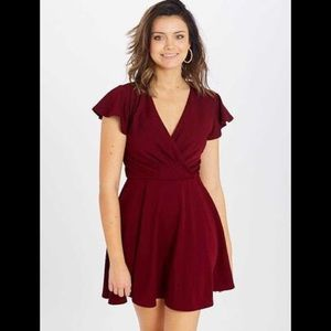 Altair's State Elyria Burgundy Dress NWT